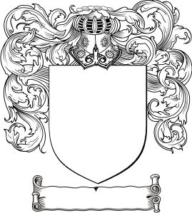 Free Coat of Arms Template (also available as a PDF)