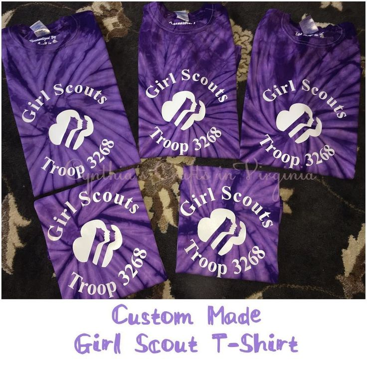 Custom made girl scouts troop t shirts girlscouts for Girl scout troop shirts