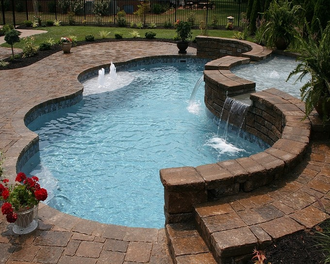 9 best laying the pool deck images on pinterest pool for Fiberglass pools colorado