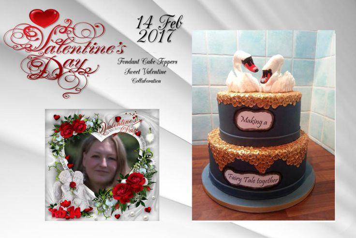 Sweet valentine collaboration 2017 - http://cakesdecor.com/cakes/269088-sweet-valentine-collaboration-2017