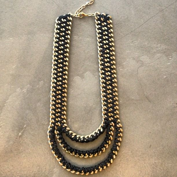 The Ziggy Mouth necklace in black