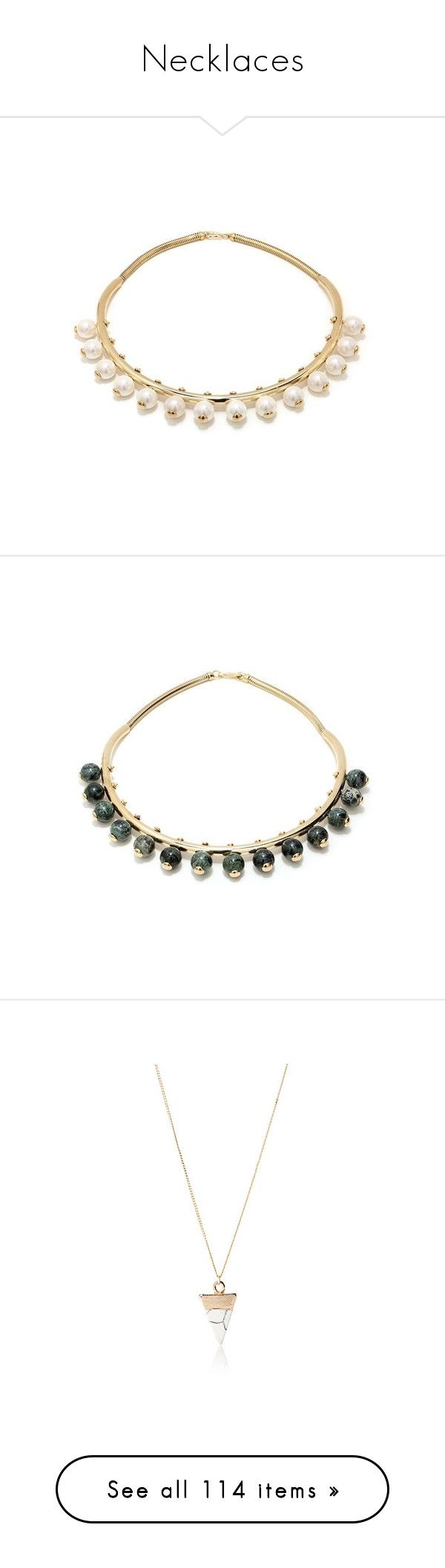 """""""Necklaces"""" by asira101 ❤ liked on Polyvore featuring jewelry, necklaces, white, 24k jewelry, white necklace, white stone jewelry, 24 karat gold jewelry, marble necklace, green and green jewellery"""