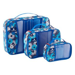 Fashionable and functional, our special Daisy Pack-It Cubes help utilize every inch of your travel bag. Each set includes three different sizes so you can create a custom fit for your tote, backpack or luggage to fill every nook and cranny. Use them to organize T-shirts, shorts, socks, undergarments and accessories - simply roll or fold them and place in the Cube. Minimize wrinkles and maximize space, make packing easy and make for quick unpacking during security checks. This is a great gift…