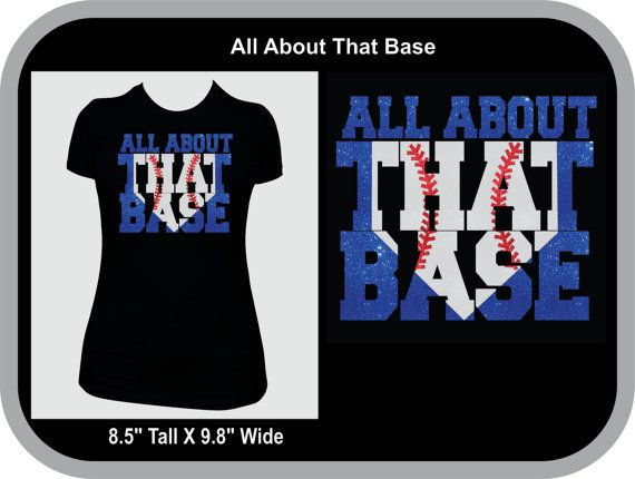 All about that base glitter vinyl  Baseball or by 3angelsboutique