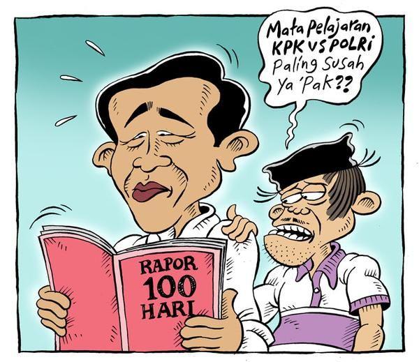 Mice Cartoon, Rakyat Merdeka - Januari 2015: 100 Hari JKW-JK