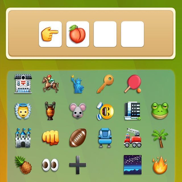 Complete the puzzle ! #thepeachlooksfunny #wordstoemojis   Craving more trivia? Download the coolest words and emoji puzzle   Available on Andriod    https://play.google.com/store/apps/details?id=com.zinfinity.zemoji&hl=en    iOS   https://itunes.apple.com/us/app/words-to-emojis/id1187893081?mt=8    Facebook  https://apps.facebook.com/716594888509984/?fb_source=sidebar_bookmark