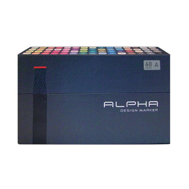 Graphic Art Marker Alpha Design Marker Twin Tip 60A Color illustration Animation #Alpha