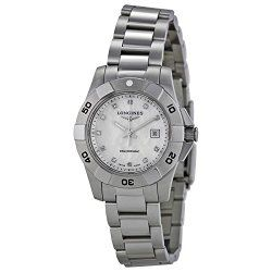 Longines HydroConquest White Pearl Dial Ladies Watch L3.298.4.87.6