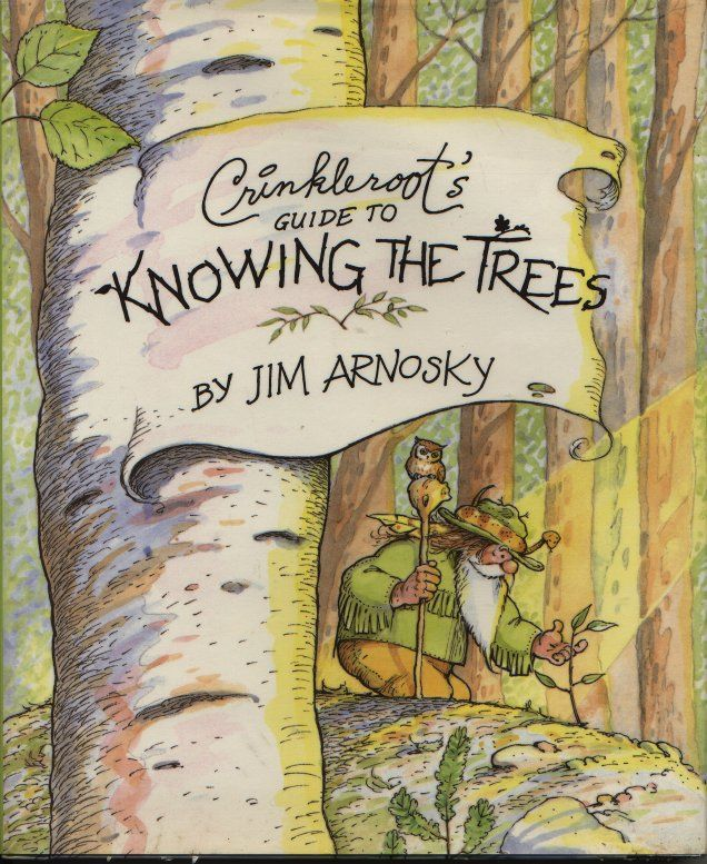 Living Books to Teach Science Practical Information about identifying trees by their leaves and bark presented through the character Crinkleroot
