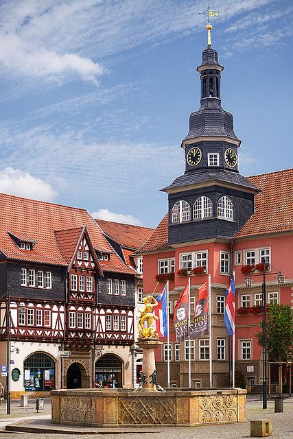 *City Hall near market place - Eisenach, Thüringen, Germany...