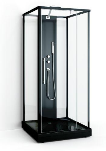 Duschkabin - Box Black Two - Klarglas - Svart