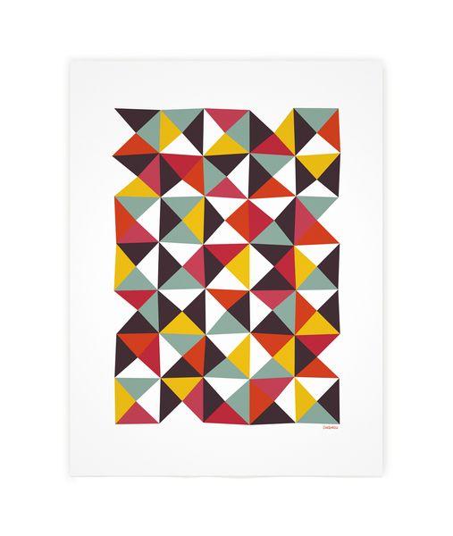 "Kunstdruck ""Bunte Geometrie"" von Liebelu auf DaWanda.com"