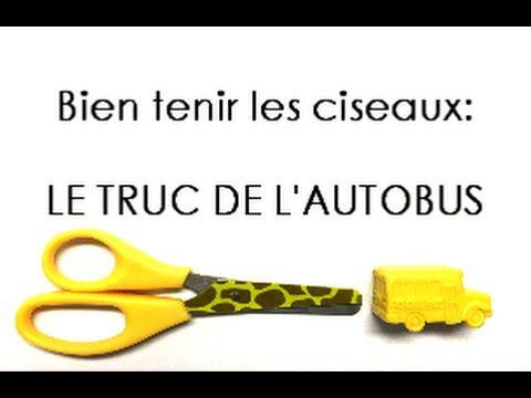 PRISE DES CISEAUX: Apprendre à bien tenir les ciseaux avec le TRUC DE L'...