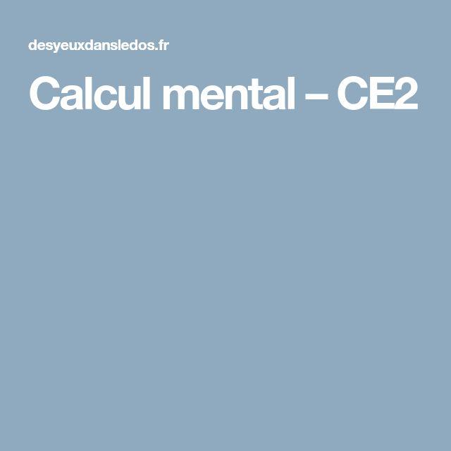 Calcul mental – CE2