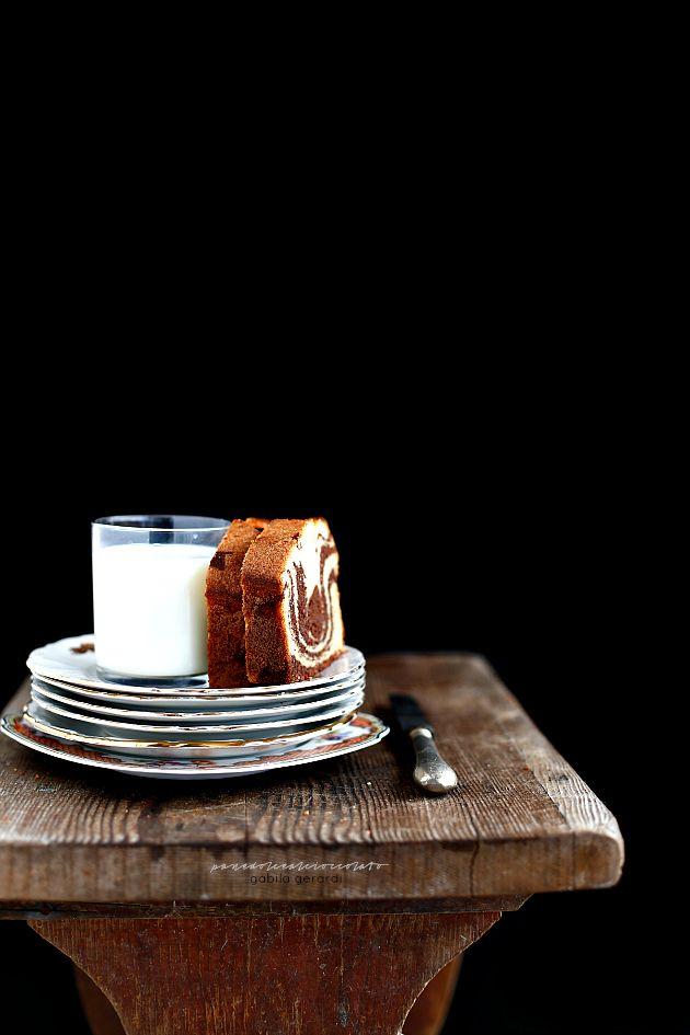 PANEDOLCEALCIOCCOLATO: Torta marmorizzata alle pere e cioccolato (senza burro) -Marble cake with pears and chocolate