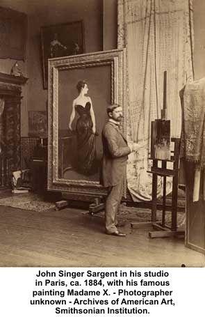 SARGENT IN HIS STUDIO