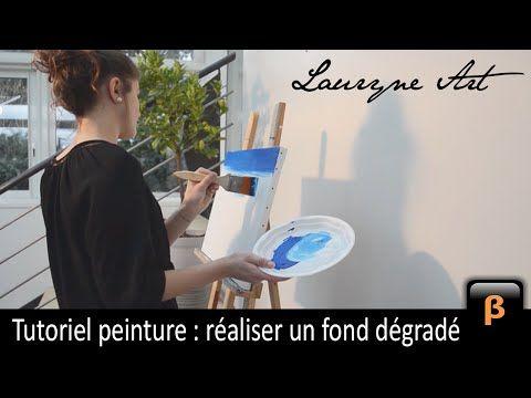 Lauryne Art - Tutoriel peinture : Réaliser un fond dégradé (Eng. subs) - YouTube
