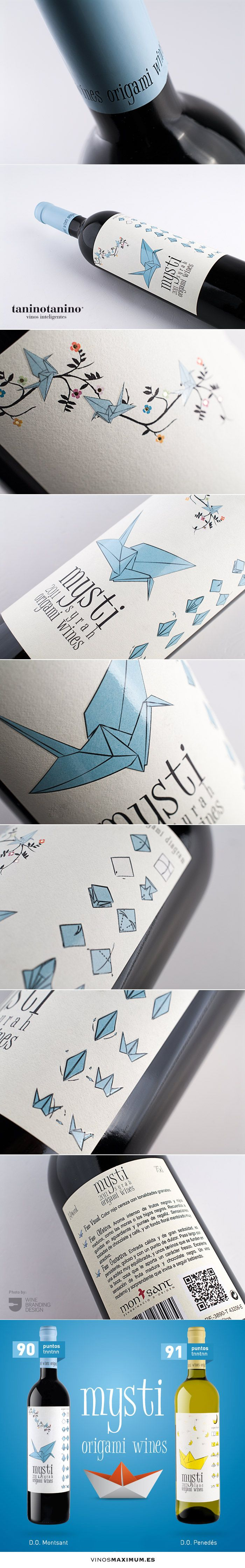 origami wines mysti - TANINOTANINO VINOS INTELIGENTES - VINOS MAXIMUM #wine #packaging #design