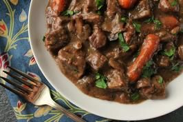 French Beef Burgundy for the Crock Pot. Photo by Delicious as it Looks