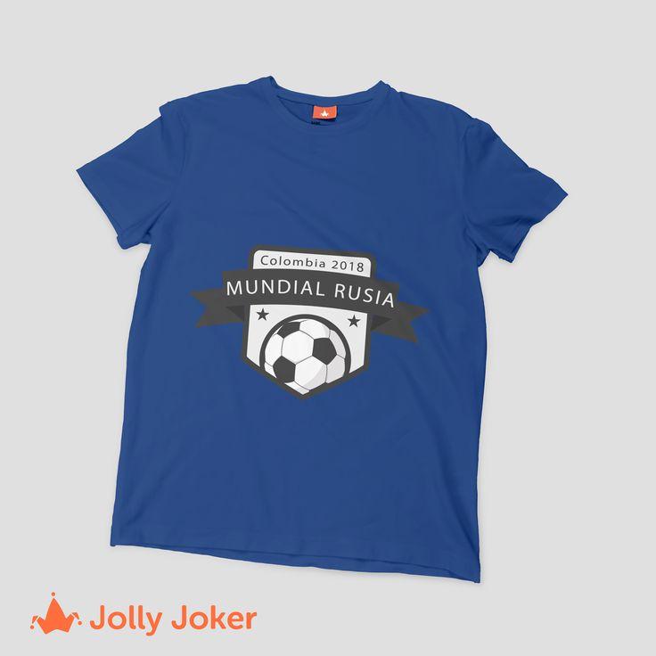 Para el mundial de Rusia, unas camisetas de Colombia personalizadas, son la mejor opción! No pasaras desapercibido en ningún partido del mundial! Diseñalas y ordenalas fácil y rápido en Jolly Joker