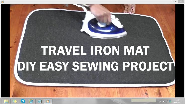 Travel Iron Mat / DIY easy sewing project / Recycled Jeans