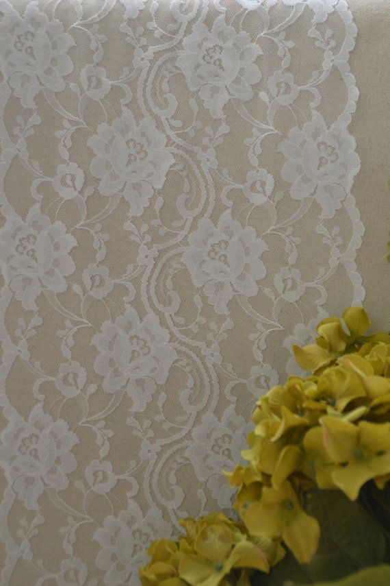 White Lace Table Runner Lace 10 Wide  Various Sizes  by LolaAndBea
