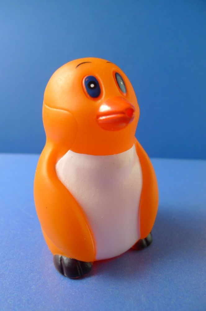Vintage rubber toy -  PENGUIN  - made in China
