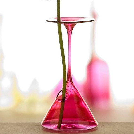 H 220mm / Vaso Monofiore Bicchiere  Cocktail di vetroedesign