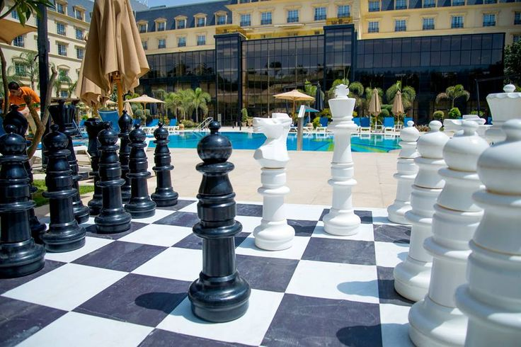 Are you up for a quick game of poolside chess?