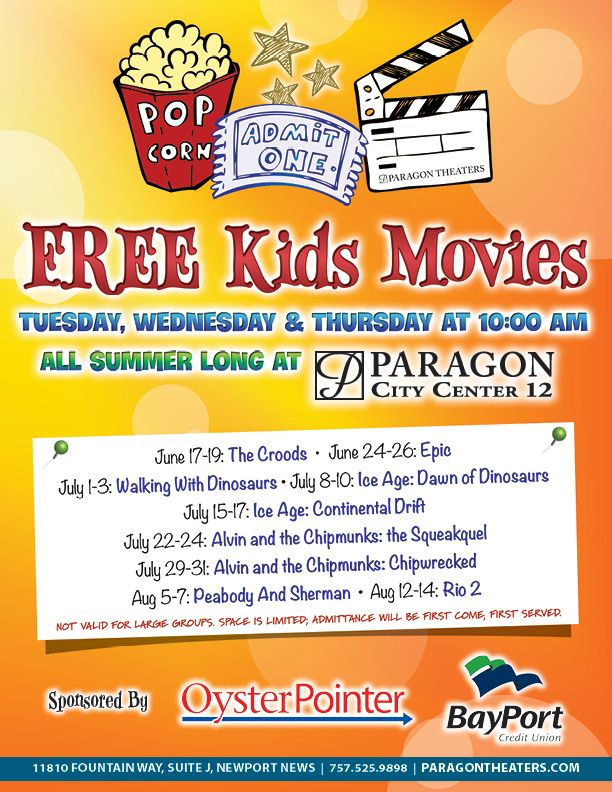 Paragon City Center Free Movies