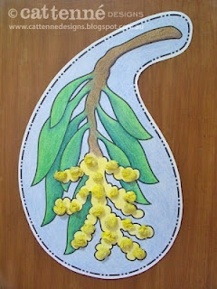 Golden Wattle craft pattern.