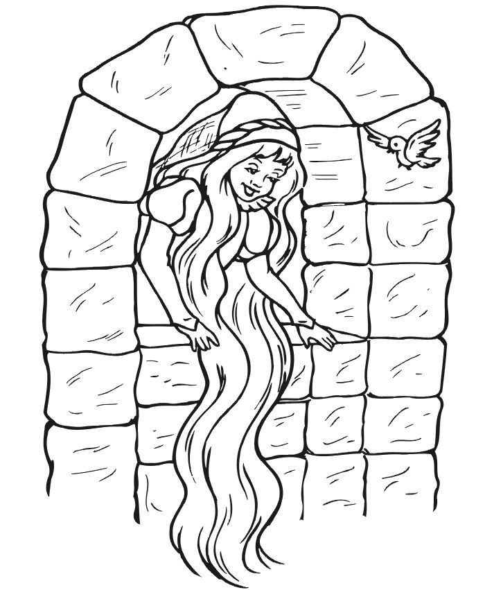 Young Rapunzel Coloring Pages 41 best Fairy Tales an...