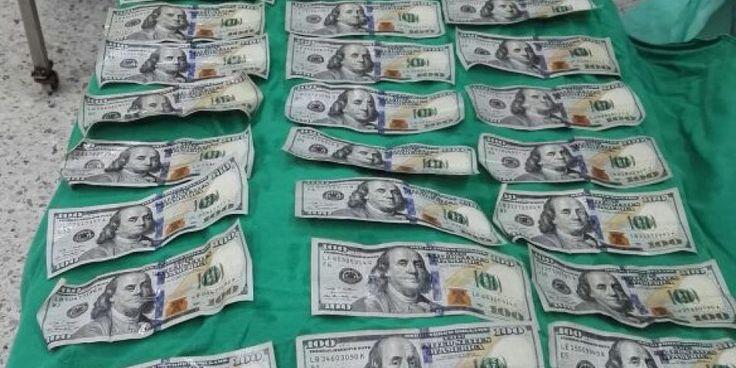 """Joven colombiana se comió 9 mil dólares: Se tragó 57 billetes de cien para no dárle """"ni medio"""" al marido"""
