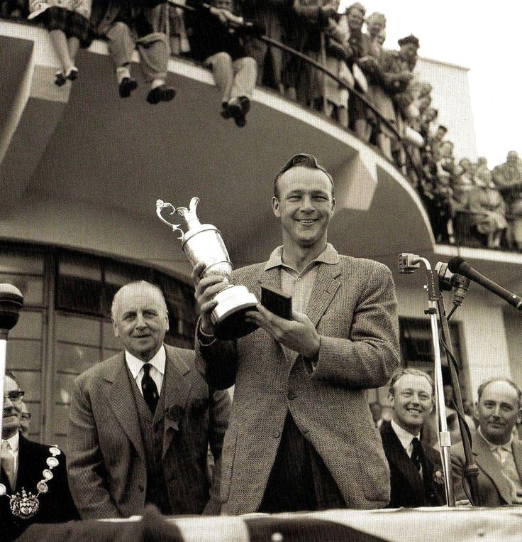 Arnold Palmer with the British Open Golf Championship trophy at the Royal Birkdale course, Southport, Lancashire - UK - 15 July 1961