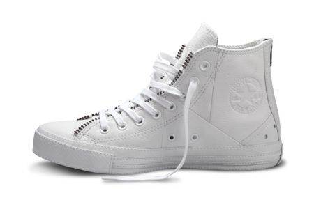 Schott NYC x Converse Chuck Taylor All Star White Leather Jacket | Minimal + Chic | @CO DE + / F_ORM