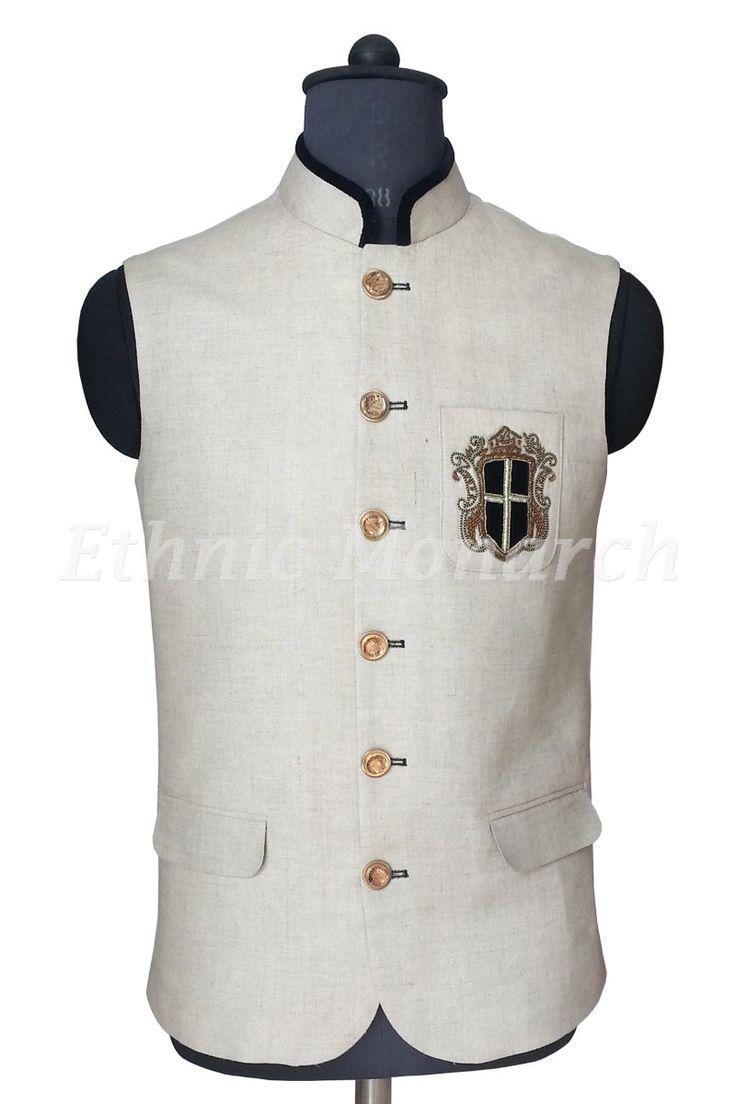 Grey Linen Nehru Jacket