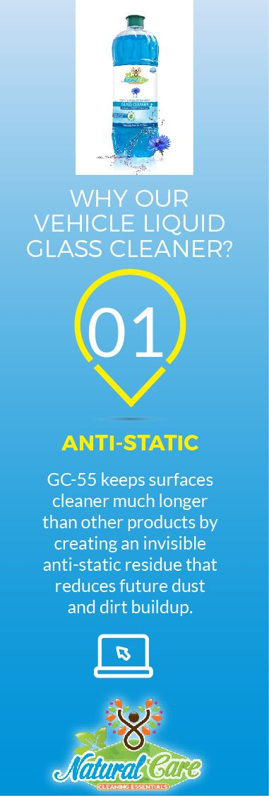 #Glass #Cleaner from #Natural   #Care  keeps surfaces cleaner, much longer.