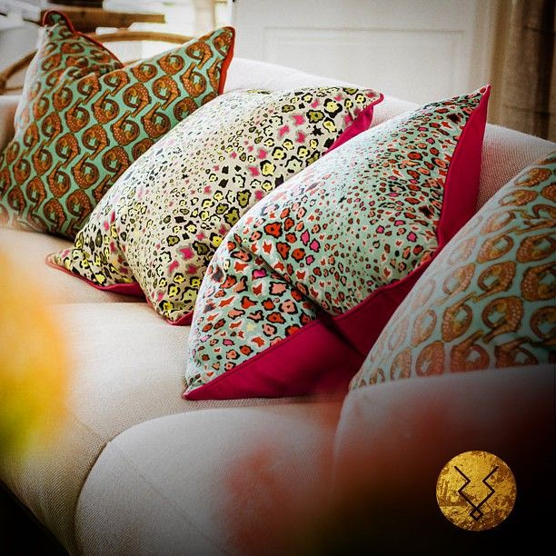 Luxurious Ardmore cushions perfect for a Sunday chill session on the couch! www.kuduhome.com