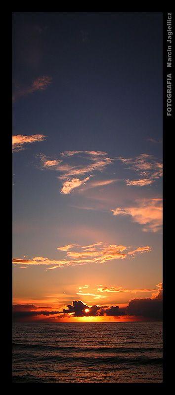 Sunset over the Baltic Sea - Pobierowo ( Poland ).