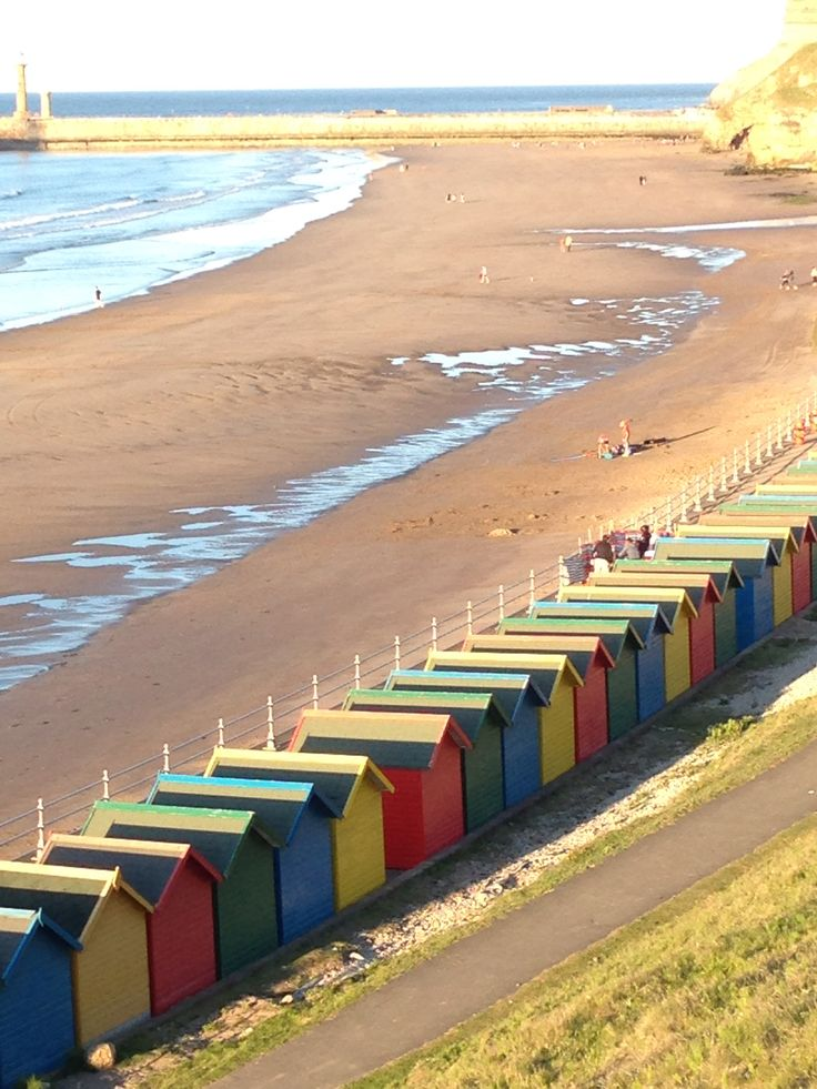 Beach huts at Whitby, Yorkshire