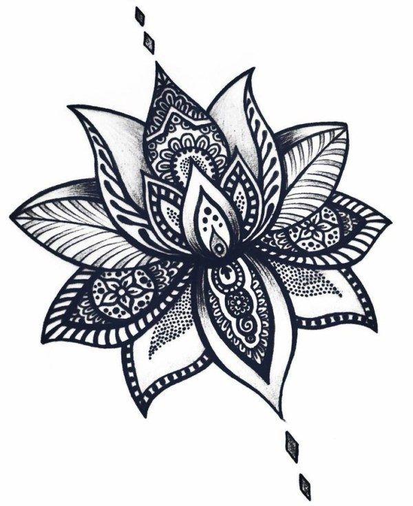 Mandalas Con Flor De Loto Significado Y Disenos Para Descargar Tatuajes Flor De Loto Flor De Loto Significado Flor De Loto Dibujo