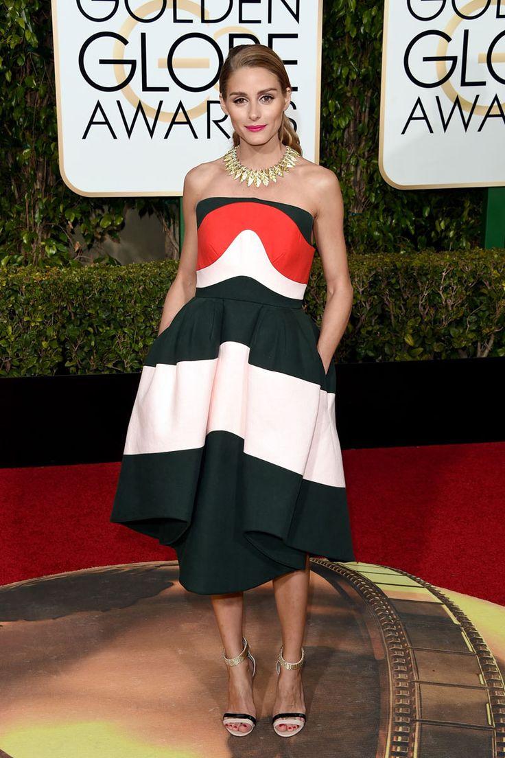 Olivia Palermo de #Delpozo en los #GoldenGlobe. Aunque se salto el dress code el vestido me gusto bastante.