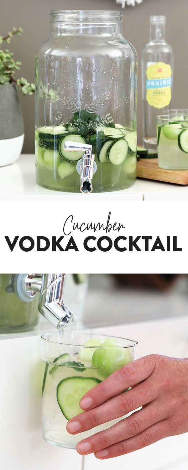 Nothing is more refreshing than this cucumber vodka cocktail on a hot summer day…