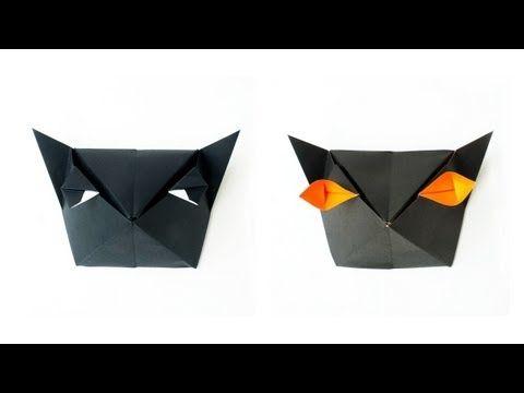 Origami Cat-Head Box :: Caja Cabeza de Gato - YouTube