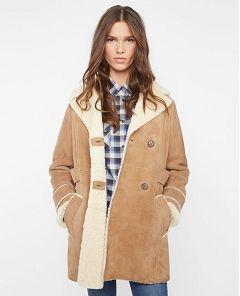 Manteau en cuir chamois - velotte