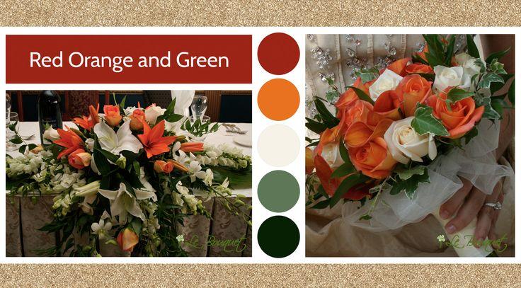 Red Orange and Green style board Le Bouquet Weddings | Le Bouquet St-Laurent Florist