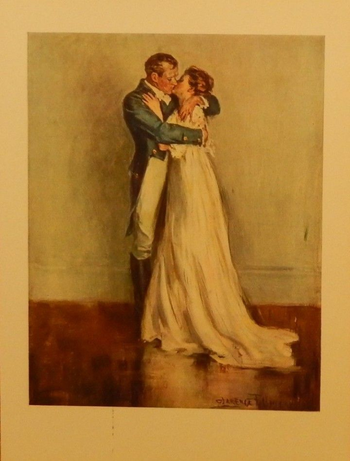 Ae Fond Kiss 1907 Scarce Color Illustration By Clarence Underwood