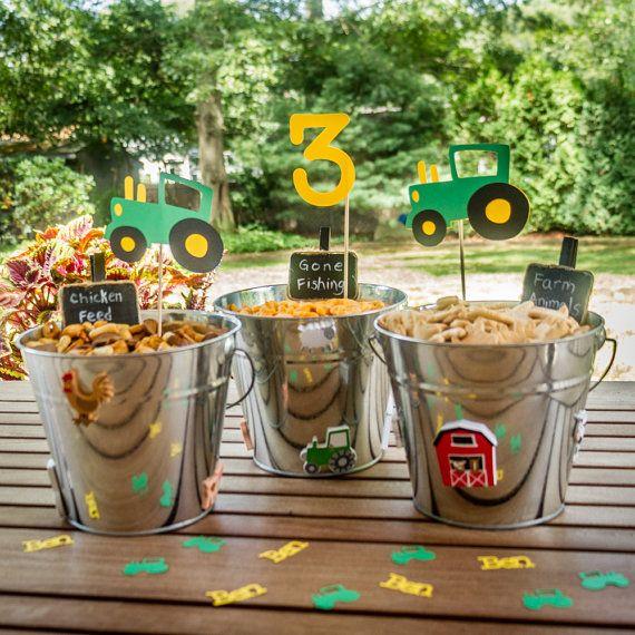 Centro de mesa fiesta edad Tractor de granja por BusyBoxFun en Etsy