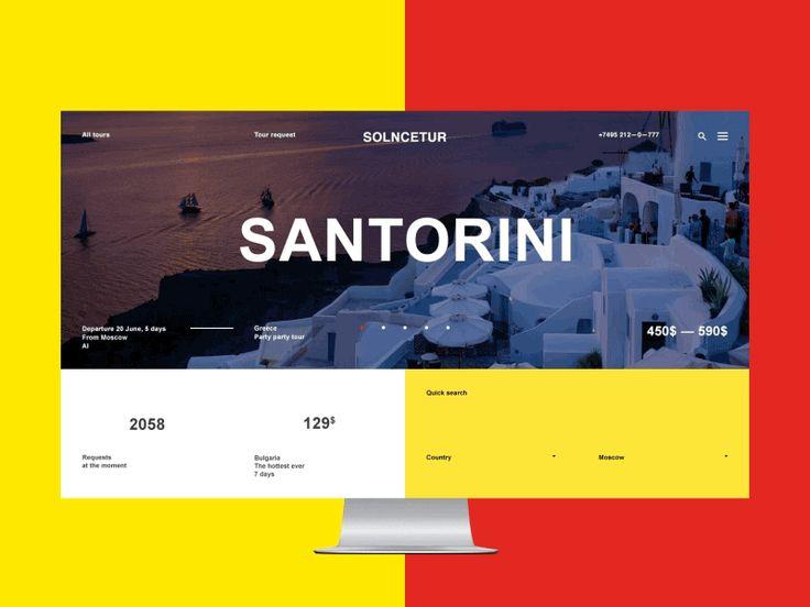 Solncetur travel agency. Main page & announcements. More at — www.be.net/laguta and www.be.net/m-2-h UI/UX — Alexander Laguta — https://dribbble.com/laguta Animation — Pavel Shumakov — htt...