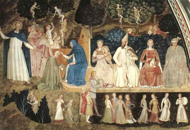Андреа да Фиренце. Правая сторона фрески в испанской капелле при церкви С. Мария…